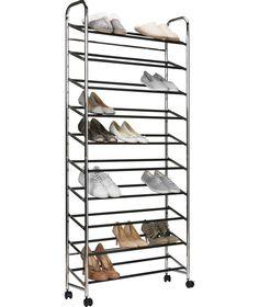 buy 10 shelf rolling shoe rack at argoscouk your online shop shoe storageshoe rackbuy