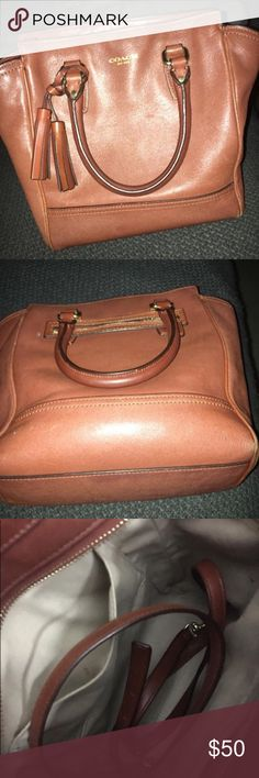 """Coach Legacy Mini tanner Tote Re-posh...smaller than expected but has Crossbody strap also...approx 11x2.5x9"""" Coach Bags Totes"""