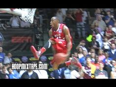 Here is James Justice on his way to winning the 2012 College Slam Dunk Contest