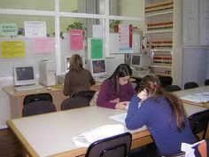 Antigua Biblioteca (antes de 2009). Sala de lectura.