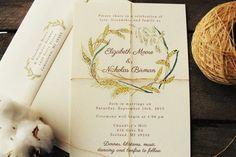 Rustic Wedding Invitation Vintage Wedding Invitation Fall Wedding ...