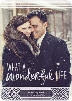 Wonderfully Cozy - Flat Holiday Photo Cards - Hallmark - White : Front #tinyprintscheer