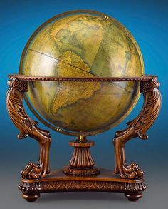 Terrestrial Globe by W. & A.K. Johnston, Thirty-Inch. This and more rare globes and maps for sale on CuratorsEye.com