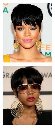 Rihanna and Kelis revamped the nerdy schoolboy bowl cut to a bold and chic look. http://stagebuddy.com/events/hair-trailblazers-rihanna-and-kelis-are-two-of-a-kind/?utm_source=Pintrest_medium=Pins_campaign=Kerstin