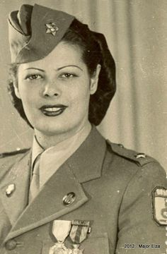 Elza Cansanção Medeiros or Major Elza (October 21, 1921- December 8, 2009) was a Brazilian Army officer and World War II veteran. She was the highest-ranking female officer in the Brazilian Army with the rank of Major. She went to Italy during the war along with the Brazilian Expeditionary Force. She died on December 8, 2009, in Rio de Janeiro ~ what a life...