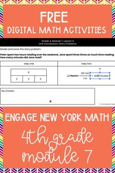 Master the skills taught in Engage New York Math Grade 4 with these FREE digital math activities. These interactive math worksheets are on Google Slides, so you can easily move pieces or fill in blanks to solve 4th grade math problems to review Engage New York Math Grade 4. These are perfect for digital math centers or interactive math worksheets. Best of all? They are FREE at TheProductiveTeacher.com! #engagenewyork #digitalmath #onlinemath #interactivemathworksheets #TheProductiveTeacher Fractions Worksheets, Teacher Worksheets, Math Fractions, 4th Grade Activities, Fraction Activities, 4th Grade Math Problems, Subtraction Activities, Eureka Math, Common Core Math