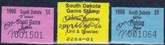 South Dakota Fishing Stamps, 1998.