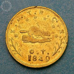 1849 $10 gold Oregon Territorial coin