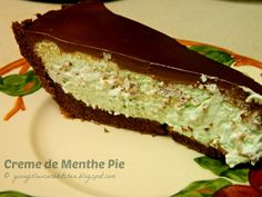 Ginny's Low Carb Kitchen: Creme de Menthe Pie