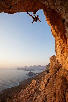 Rock climber at sunset, Kalymnos Island, Greece by photobac on PhotoDune. Rock climber at sunset, Kalymnos Island, Greece Solo Climbing, Trekking, Base Jumping, Mountain Climbing, Mountain Biking, Extreme Sports, Mountaineering, Plein Air, Climbers