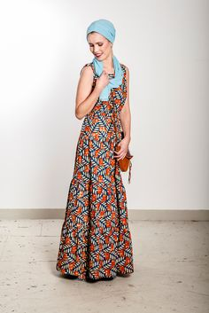NOH NEE Collection 2016 // Maxi dress with African colours  Foto: Attila Henning Shop: http://www.nohnee.com/collections/afrikanische-kleidung/products/maxikleid-orange-ma