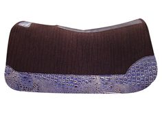 5 Star Equine Product's 100% Virgin Wool Dark Chocolate Saddle Pad with Grape Gator Custom Full Length Wear Leathers!
