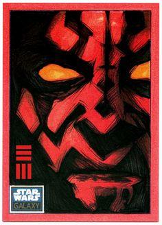 Darth Maul Sketch Card by ~Erik-Maell
