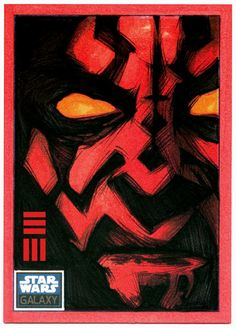 Darth Maul Sketch Card by ~Erik-Maell