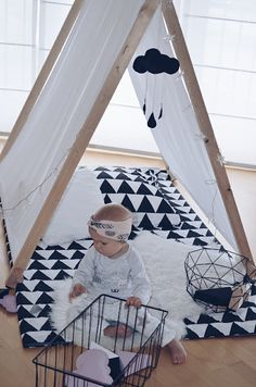 SOMETHING BEAUTIFUL: PLAY TENT FOR EMA Home Panel, Cool Tents, Modern Kids, Space Saving Furniture, Everything Baby, Kid Spaces, Something Beautiful, Kid Beds, Girl Room