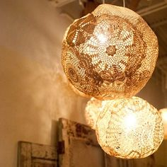 beautiful lamps of vintage lace