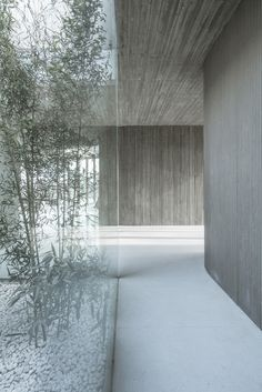 Located in Tangshan, Hebei, China, Waterside Buddist Shrine by ARCHSTUDIO The design started from the connection between the building and nature, adopts the method of earthing to hide the… - architecture Architecture Design Concept, Detail Architecture, Plans Architecture, Concrete Architecture, Minimalist Architecture, Church Architecture, Interior Architecture, Minimalist Interior, Patio Interior