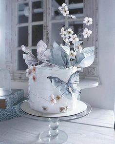 Wedding cake by elena_gnut_cake .ru/ - Кейтеринг Т. - Wedding cake by elena_gnut_cake .ru/ - Кейтеринг Т. Wedding Cake Decorations, Cool Wedding Cakes, Wedding Cake Designs, Wedding Cupcakes, Wedding Cake Toppers, Pretty Cakes, Cute Cakes, Beautiful Cakes, Amazing Cakes