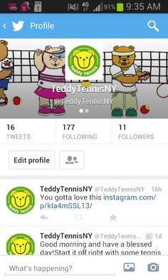Great exercise and way to learn the basics of tennis for kids! Follow us on  Twitter!  teddytennisny a68459659ac