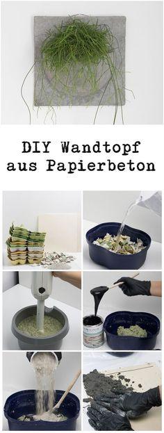 DIY Papierbeton Wandtopf und Schalen DIY paper concrete wall pot and bowls Concrete Crafts, Concrete Art, Concrete Projects, Diy Projects, Papier Diy, Diy And Crafts, Paper Crafts, Papercrete, Beton Diy