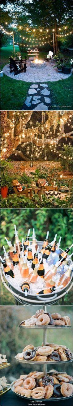 Intimate Backyard Outdoor Wedding Decor Ideas #backyardwedding #outdoorwedding #countrywedding #weddingdecor ❤️http://www.deerpearlflowers.com/intimate-backyard-outdoor-wedding-ideas/ #outdoorweddingdecorations #outdoorweddings #weddingideas