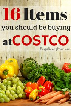 16 items to buy at Costco: I am a huge fan of Costco. We buy our electronics and appliances there, we bought a garage door from them, and refinanced our home loan through them. They rock! However, I don't actually buy a lot of groceries there. Their food prices are on the low side of average, and the portions are just too big for us to use and store in the cupboard. But there are a few exceptions. Here are the groceries and household items that are wonderful bargains there: