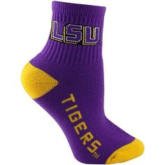 #LSU #socks LSU Tigers Purple & Gold Youth Socks