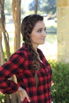 DIY Side Dutch Braid. An easy 5 min hairstyle that still looks beautiful! #braid #hairstyles #hairstyle #cutegirlshairstyles #braids #dutchbraid #CGHdutchbraid