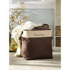 Labeled Fabric Laundry Hamper at Kirklands....I love Kirklands