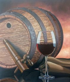 """Barrel of Fun"" by Scott Jacobs - Acrylic on canvas"