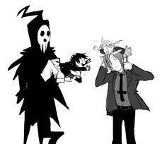 (Soul Eater) Lord Death, Death the Kid, Maka and Spirit Soul Eater Kid, Soul Eater Manga, Soul Eater Death, Anime Soul, Anime Life, Manga Anime, Anime Art, Perception, Super Manga