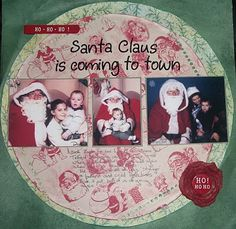 Santa claus is coming to town - christmas scrapbook page