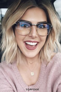So we got an amazing solution to prevent your boss babe woes even before they start happening, and prevent them from getting worse! Learn more! Glasses For Oval Faces, Cute Glasses, New Glasses, Eyeglasses For Women Round Face, Blonde With Glasses, Girls With Glasses, Stylish Glasses For Women, Hairstyles With Glasses, Cool Hairstyles