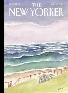 """""""It's an obsession,"""" Jean-Jacques Sempé says, of his cover for the new issue."""