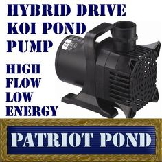 """Patriot Koi Pond Pump KP6100 - 6100 GPH Koi Pond & Waterfall Pump by Patriot. $239.00. Rotor, shaft, seals engineered for 24/7 continuous duty. Fully submersible design operates safely in or out of the pond. 1 1/2"""" Diameter Output. Overload protection by means of a thermal overload trip circuit. Tough-torque Vortex impeller passes solids to ¼"""". Hybrid drive technology combines the power of direct drive pumps with the energy efficiency and safety of magnetic drive pumps. I..."""