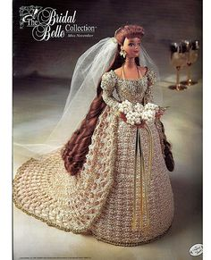 dress pattern for gibson girl doll | ... Collection Miss November Fashion Doll Crochet Pattern Annies Attic ♡