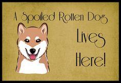 Shiba Inu Spoiled Dog Lives Here Mat