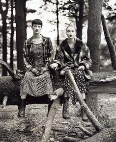 grunge!! Kristine McMenamy and Nadja Auermann by Steven Meisel for Vogue 1992