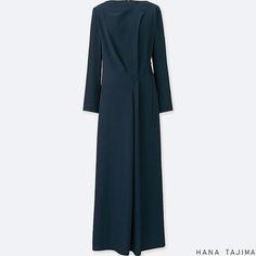 Short Sleeve Dresses, Long Sleeve, Long Dresses, Dress Long, Uniqlo Dresses, Polyvore Outfits, Modest Fashion, High Neck Dress, Dresses For Work