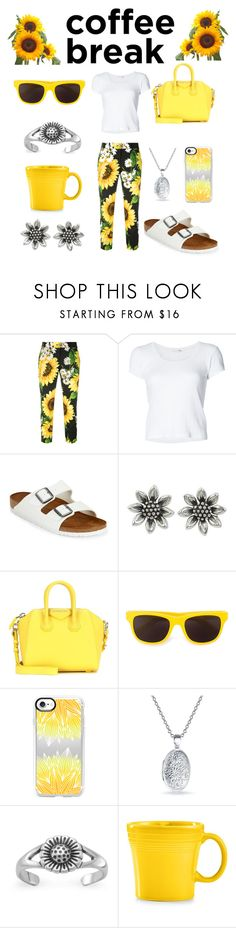 """🌻✨Sunflower✨🌻"" by shortgirldiamond ❤ liked on Polyvore featuring Dolce&Gabbana, rag & bone, Birkenstock, NOVICA, Givenchy, Moschino, Casetify, Bling Jewelry, Fiesta and coffeebreak"