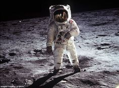 Buzz Aldrin. 1969 Eagle lunar lander made first touchdown on the moon. Photographer: Neil Armstrong.