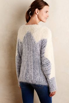 Zigged Formation Pullover - anthropologie.com