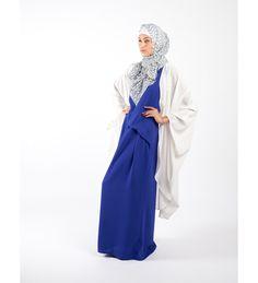 ROYAL BLUE ASYMMETRICAL DRESS