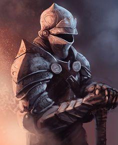 Scribbly knight by thomaswievegg.deviantart.com on @deviantART