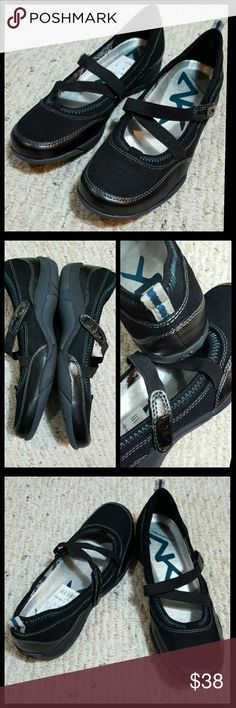 New Anne Klein Sport New with tags  AK Ursula Velcro straps  Black with teal stiching and heel pull accent.  Quality shoe True to size 8.5 No trades  No modeling  Bundle and save Anne Klein Shoes Flats & Loafers