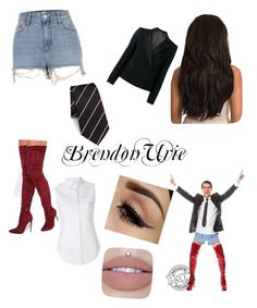 """""""Brendon Urie inspired look"""" by brendonross ❤ liked on Polyvore featuring River Island, Thom Browne, Blazé Milano and Polo Ralph Lauren"""