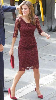 2013 - Queen Letizia attends Principe de Asturias Awards, in Oviedo - dress by Felipe Varela