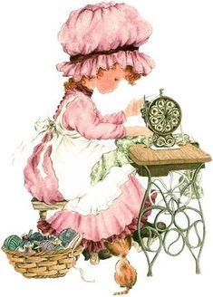 ilclanmariapia: Holly Hobbie , Sarah Kay e le bimbe Sunbonnet Sue Sarah Key, Holly Hobbie, Vintage Pictures, Cute Pictures, Papier Kind, Decoupage, Illustrator, Sewing Art, Fun Hobbies