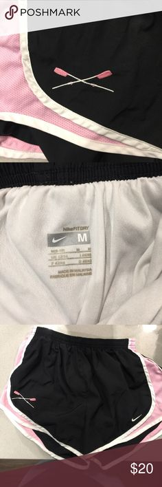 Excellent Used Condition Nike Shorts Women's Rowing Crew embroidered oars. These are barely worn. They are in perfect condition. Perfect to work out! Nike Shorts