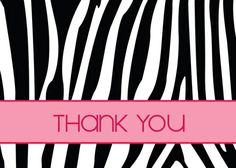 Thank You Zebra - Sussex Printing Corp. http://theguide.holidaycardwebsite.com/occasions/thank-you-cards/D2038